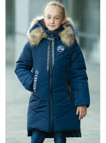Зимняя куртка МАДЛЕН д/дев (т.синий)