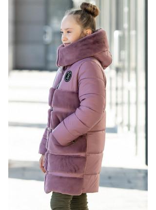 Зимняя куртка АВРОРА д/дев. (пудра)