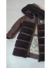 Зимняя куртка АВРОРА д/дев. (шоколад)
