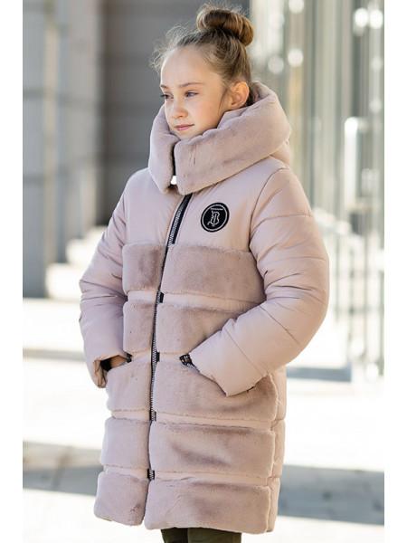 Зимняя куртка АВРОРА д/дев. (капучино)