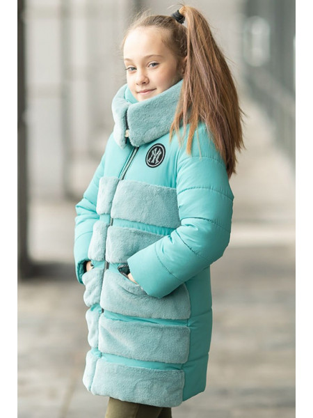 Зимняя куртка АВРОРА д/дев. (мятный)