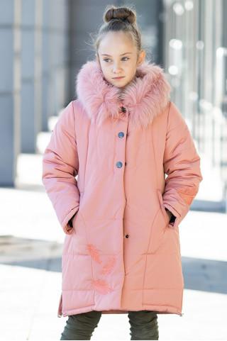 Зимняя куртка АЛЕСТА д/дев. (св.персиковый)