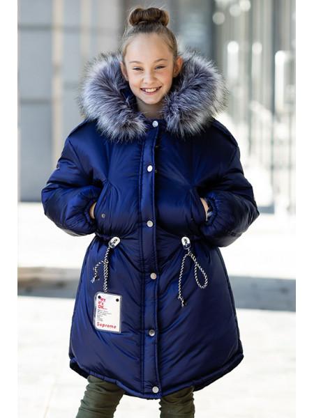 Зимняя куртка ГАЯНА д/дев. (т.синий)