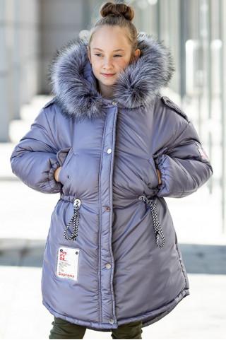 Зимняя куртка ГАЯНА д/дев. (серый)