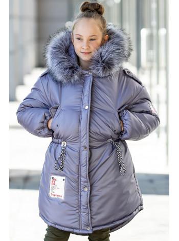 Зимняя куртка АВРОРА д/дев. (серый)