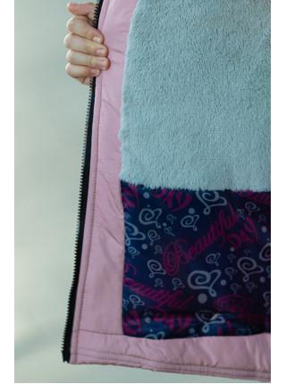 Зимнее пальто Ирада д/дев+снуд в комплекте (св.розовый)