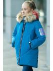 Пальто Ирада зимнее д/дев (голубой)