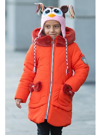 Зимняя куртка ДИЛЯ для девочки (ярко-оранжевый)