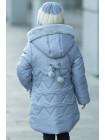 Зимняя куртка ДИЛЯ для девочки (серо-голубой)
