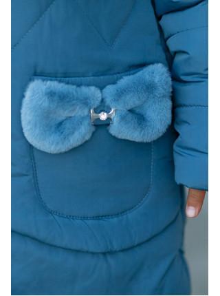 Зимняя куртка ДИЛЯ д/дев. с шарфом в комплекте (джинс)