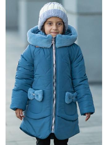 Зимняя куртка ДИЛЯ для девочки (джинс)