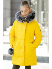 Зимняя куртка АМИНА д/дев. (желтый)