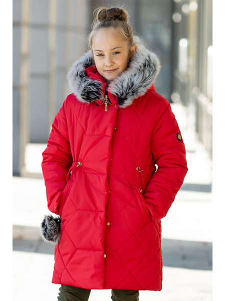 Зимняя куртка АМИНА д/дев. (красный)