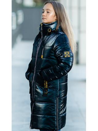Зимняя куртка МАНИЛА д/дев. (синий)