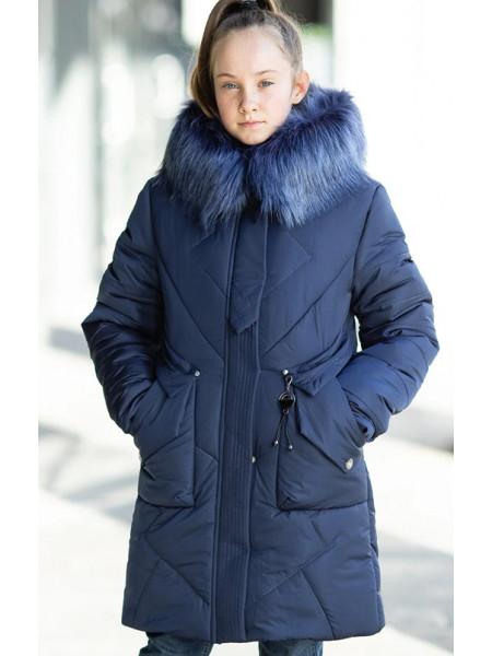 Зимняя куртка РОМАНА д/дев. (синий)