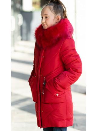Зимняя куртка РОМАНА д/дев. (красный)