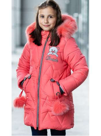 Зимняя куртка БРИАНА д/дев. (коралл)