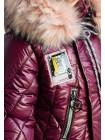 Зимняя куртка МИЛИЦА д/дев. (вишня)
