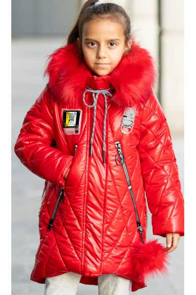Зимняя куртка МИЛИЦА д/дев. (красный)
