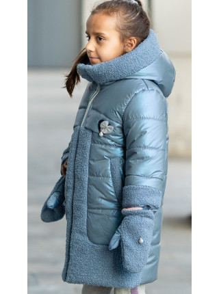 Зимняя куртка ВОЛЛИ д/дев. (голубой)