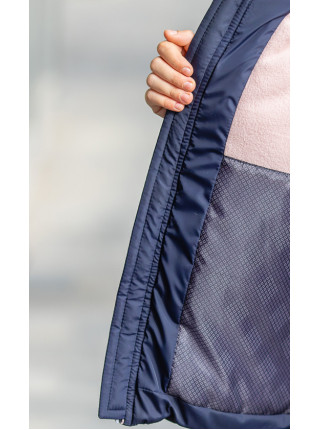 Зимняя куртка БЛЕСК д/дев. (синий/розовый)