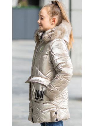 Зимняя куртка ФЕЛЛ д/дев. (бежевый)