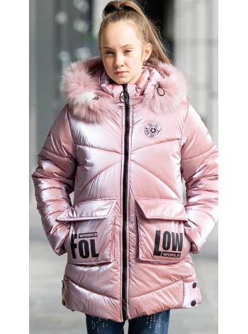 Зимняя куртка ФЕЛЛ д/дев. (пудра)