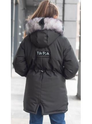 Зимняя куртка ЛИ-ЭНН д/дев. (графит)