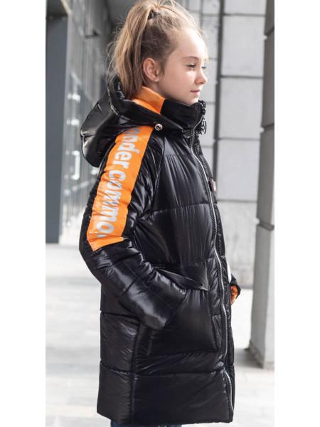 Зимняя куртка БАРХАТ д/дев. (черный)