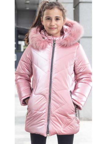 Зимняя куртка ПЕРЛА д/дев. (розовый)