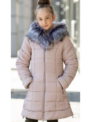 Зимняя куртка МАДИНА д/дев. (бежевый)