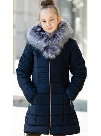 Зимняя куртка МАДИНА д/дев. (синий)