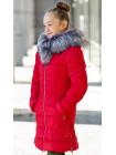 Зимняя куртка МАДИНА д/дев. (красный)