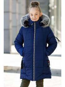 Зимняя куртка ЛАУРА д/дев. (т.синий)