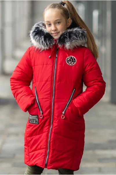 Зимняя куртка ОЛИВИЯ д/дев. (красный)