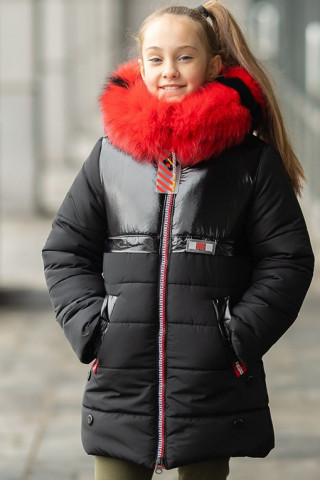 Зимняя куртка ОФЕЛИЯ д/дев. (черный)
