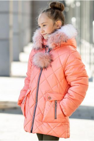 Зимняя куртка НАТАЛЬЯ д/дев (персик)