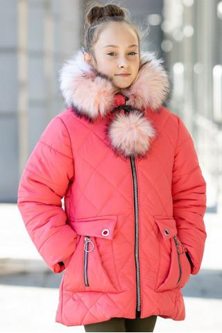 Зимняя куртка НАТАЛЬЯ д/дев (коралл)