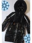 Зимняя куртка Аглая для девочки в черном цвете