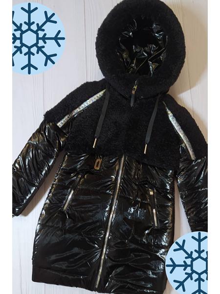 Зимняя куртка Аглая для девочки ( черный)