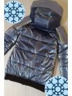 Зимняя куртка Аглая для девочки в серебристом цвете