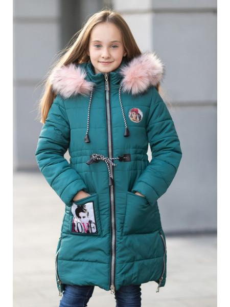 Зимняя куртка ФЕЯ д/дев(бутылочный)