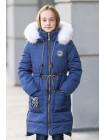 Зимняя куртка ФЕЯ д/дев.(синий)