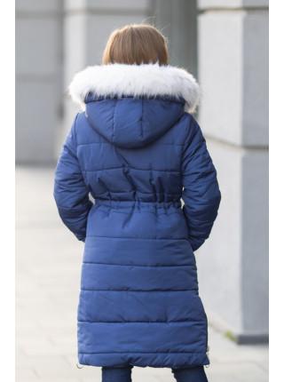 Зимняя куртка ФЕЯ д/дев(синий)