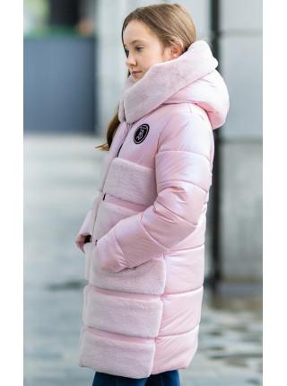 Зимняя куртка АВРОРА д/дев. (розовый жемчуг)