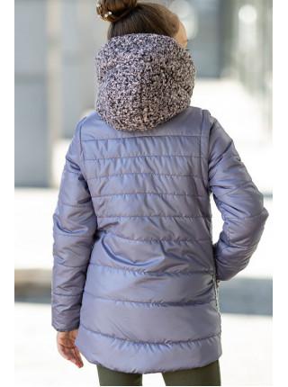 Куртка-жилет РОКСАНА демисезонная д/дев. (серый)