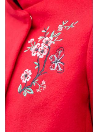 Пальто САМИРА демисезонное (ягода)