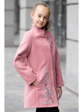 Пальто САМИРА демисезонное (пудра)