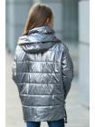 8910 Куртка Крошка демисезонная (т.серебро)