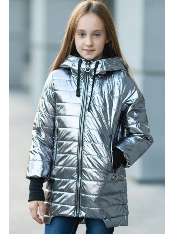 89111 Куртка Грета демисезонная (серебро)